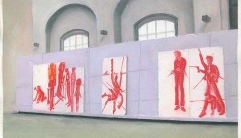 Malovane portfolio(Wannieck gallery2010), 2010, acrylic na papire A4