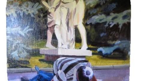 Přátelství , 2011, 225X150, olej na plátně