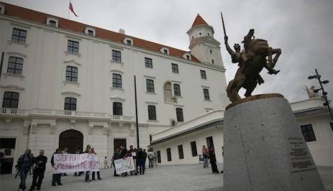 Protestní shormáždění v létě 2010, foto: Damas Gruska
