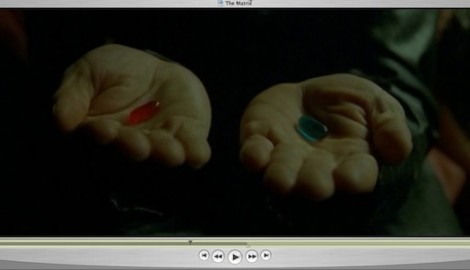 Petr Dub: Red and Blue Pill / Zdroj: DVD Matrix (screenshot videa, 00:28:02 min)