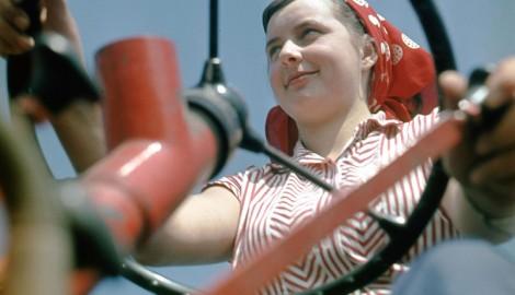 Martin Schmidt: Traktoristka / kolem 1965
