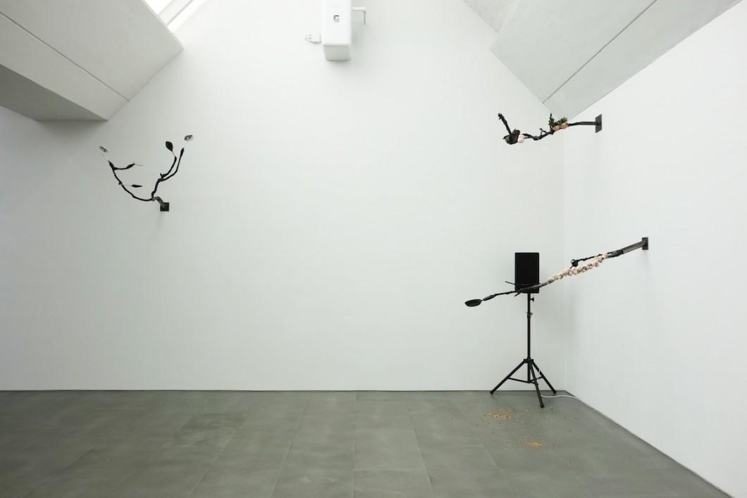 Laure Prouvost / pohled do instalace v galerii Carlier / Gebauer / 2015