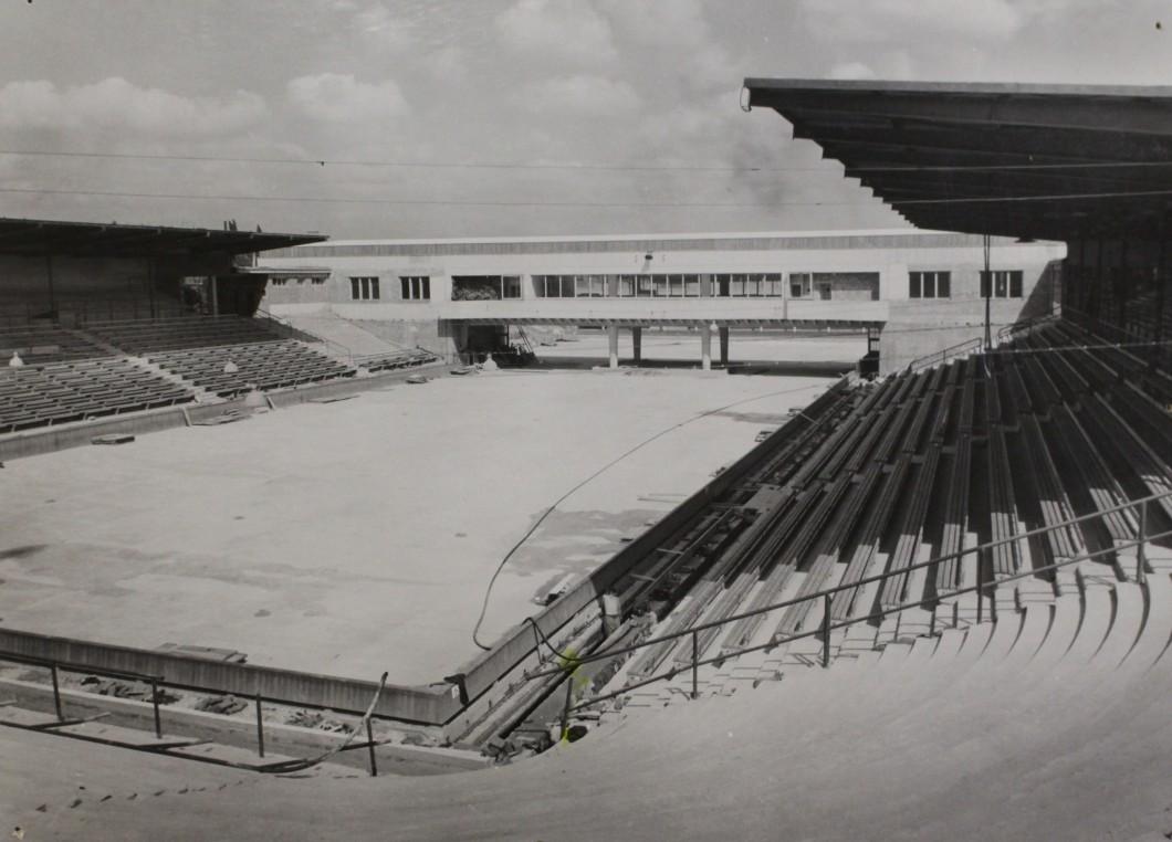 Zimní stadion před dokončením, nedatováno. AMB, fond U5, inv. č. XXVIIg12