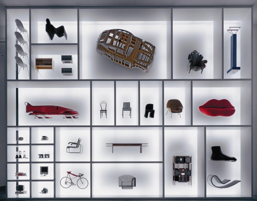 """Setzkasten"": Die Neue Sammlung - The Design Museum, prostorová instalace designové vize"