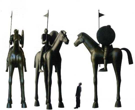 Jaroslav Róna: návrh na sochu jihlavského jezdce
