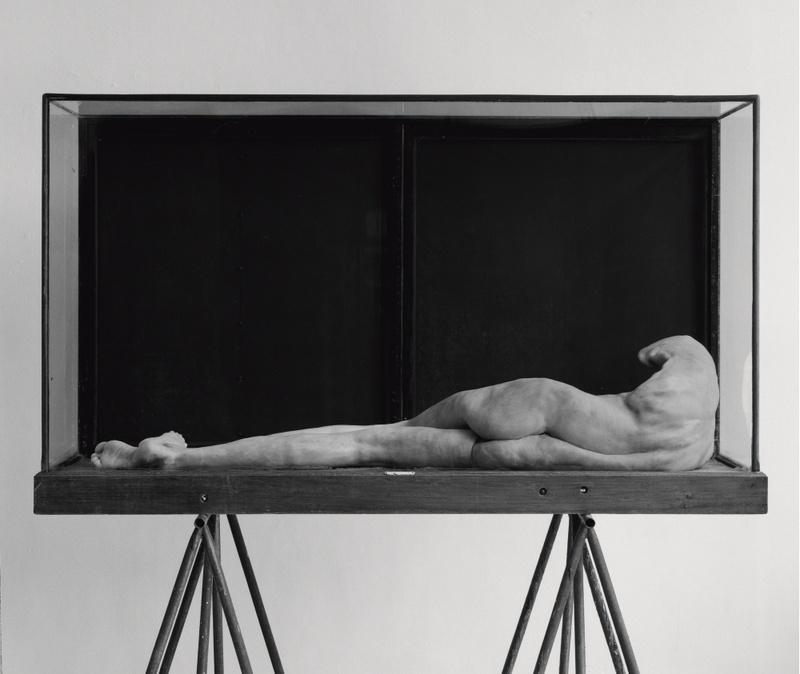 BERLINDE DE BRUYCKERE J. L., 2006 Vosk, epoxid, železo, dřevo, sklo 197 x 181 x 81 cm Soukromá sbírka, © © Berlinde De Bruyckere Courtesy Hauser & Wirth Foto Mirjam Devriendt