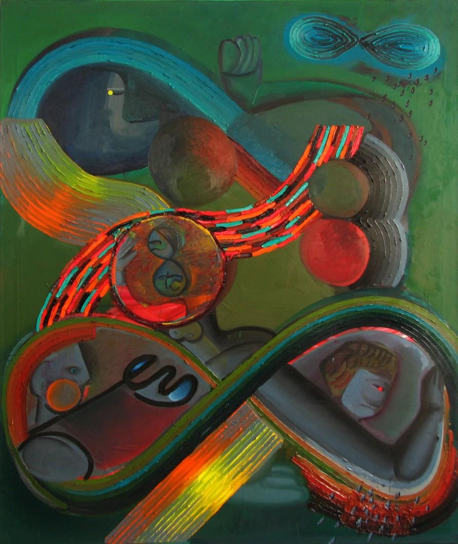 3. Časová osmička, olej na plátně, 2015