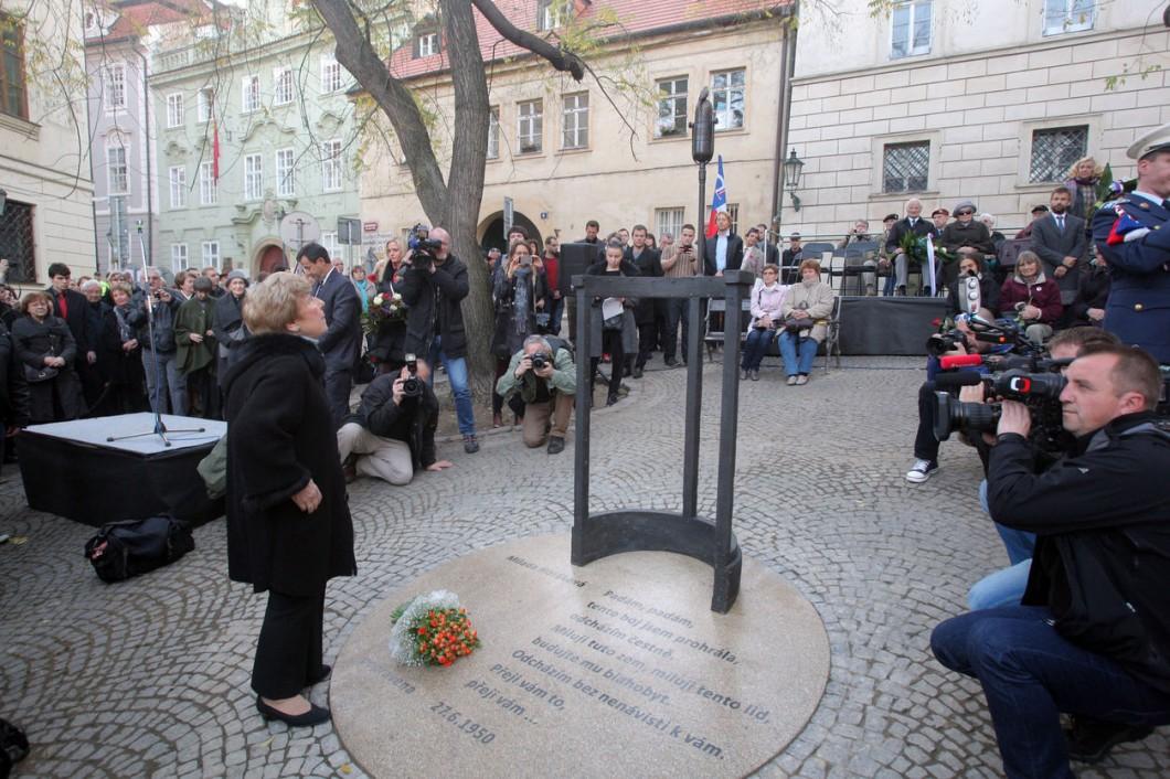 Pomník Milady Horákové, Praha, foto: Ludvík Hradilek (aktualne.cz)