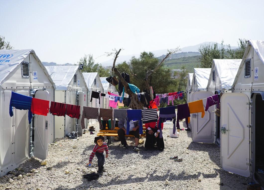 tábor Kara Tepe na ostrově Lesbos - foto Better Shelter