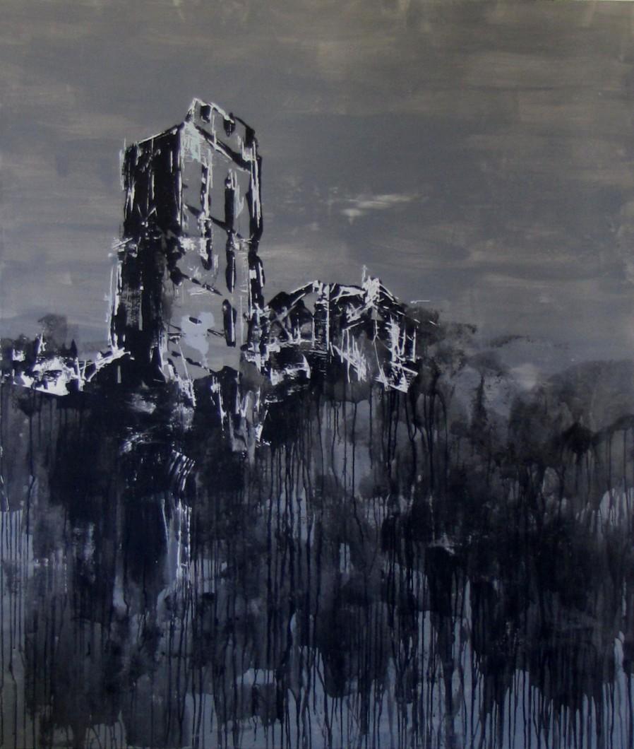 Ján Hrčka - Pajštún, 2012, akryl na plátne, 200 x 180 cm