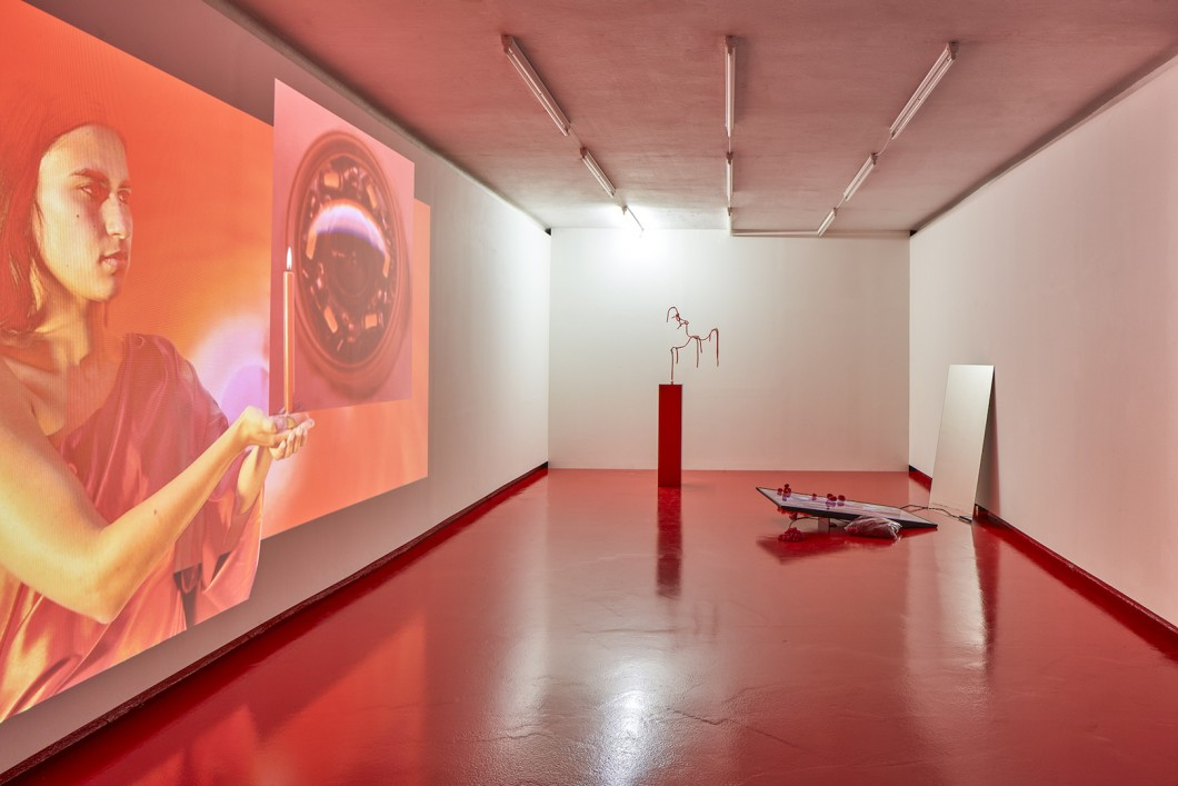 02_Sylbee Kim, The Red Liquid and Narcissus, Installation View, Nevan Contempo, 2017