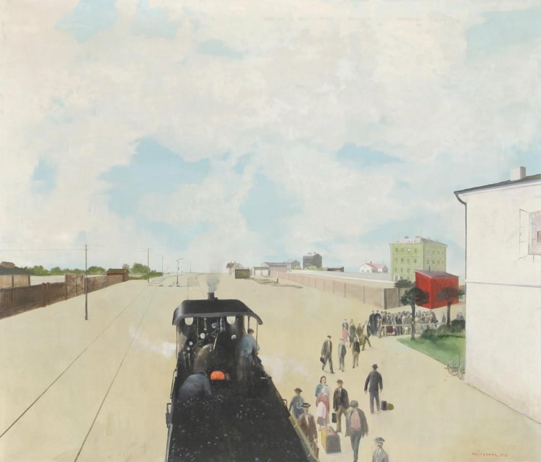 Kamil Lhoták, Nádraží (Vstříc osudu), 1948, Oblastní galerie v Liberci