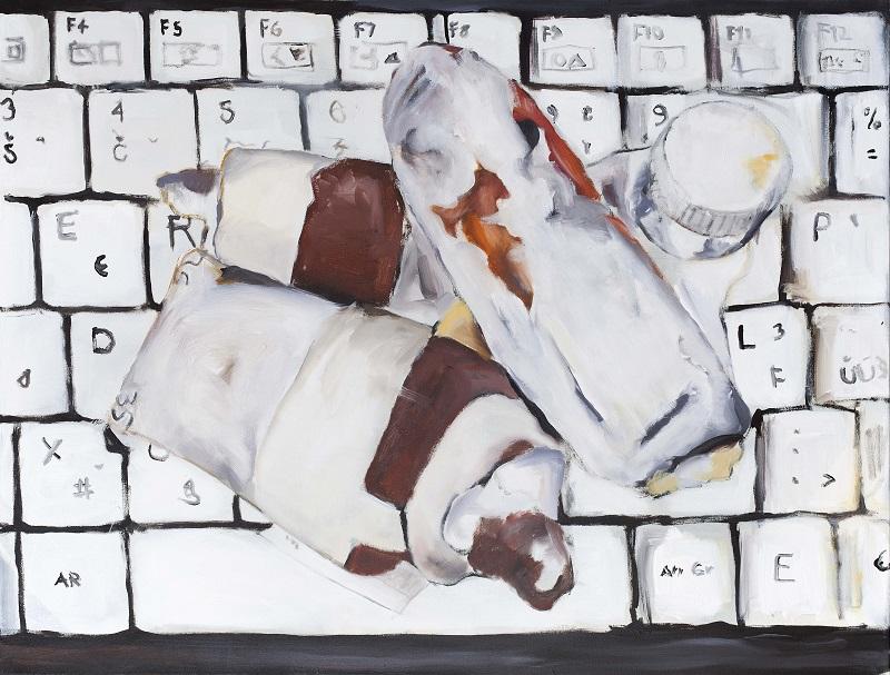 Barvy Cifry Litery, 2017, 2017, 95 x 125 cm, akryl na plátně foto Marcel Rozhoň_web