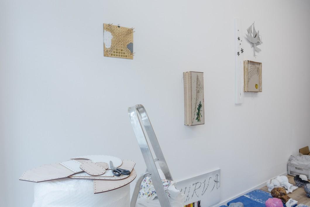 Jiri David, detail instalace, mix medium, 2017 (3)