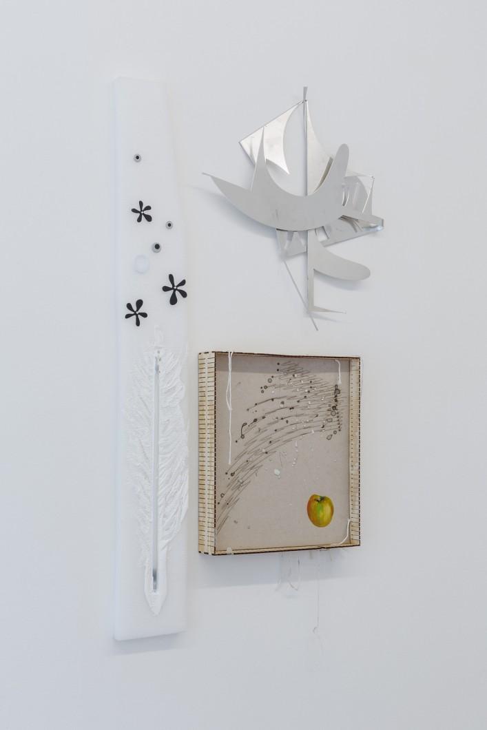 Jiri David, detail instalace, mix medium, 2017