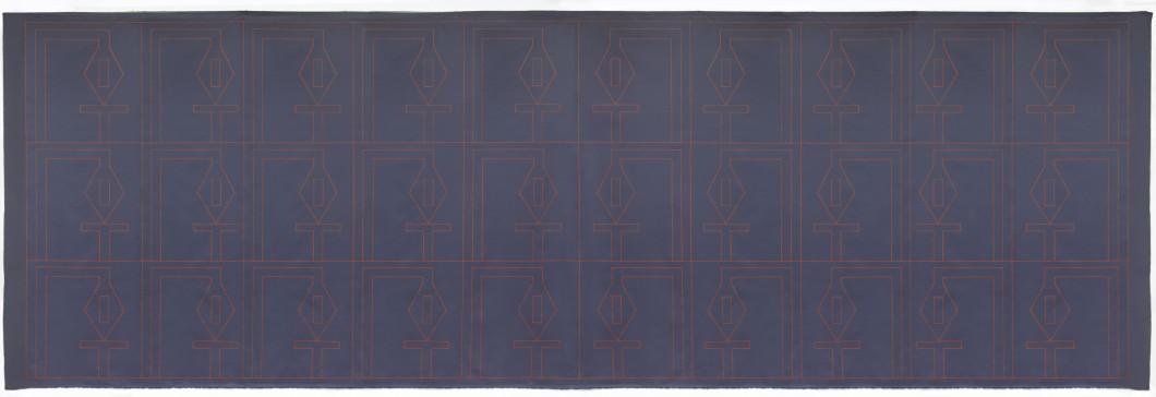 Maria Balazova_Textilne_robotnice_2017_168x500cm_akryl na polyesteri