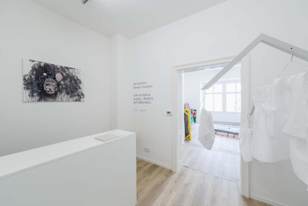 Pohlede do instalace vystavy Cukr na spice jazyka (Jiri David, Namor Ynrobyv)