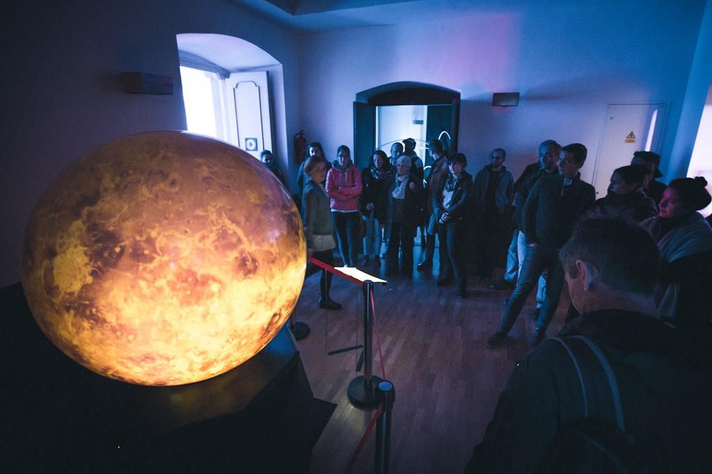 Sf+ęrick+í projekce od Hv¦Ťzd+írny a Planet+íria Brno, foto Daniel Peprn+şk
