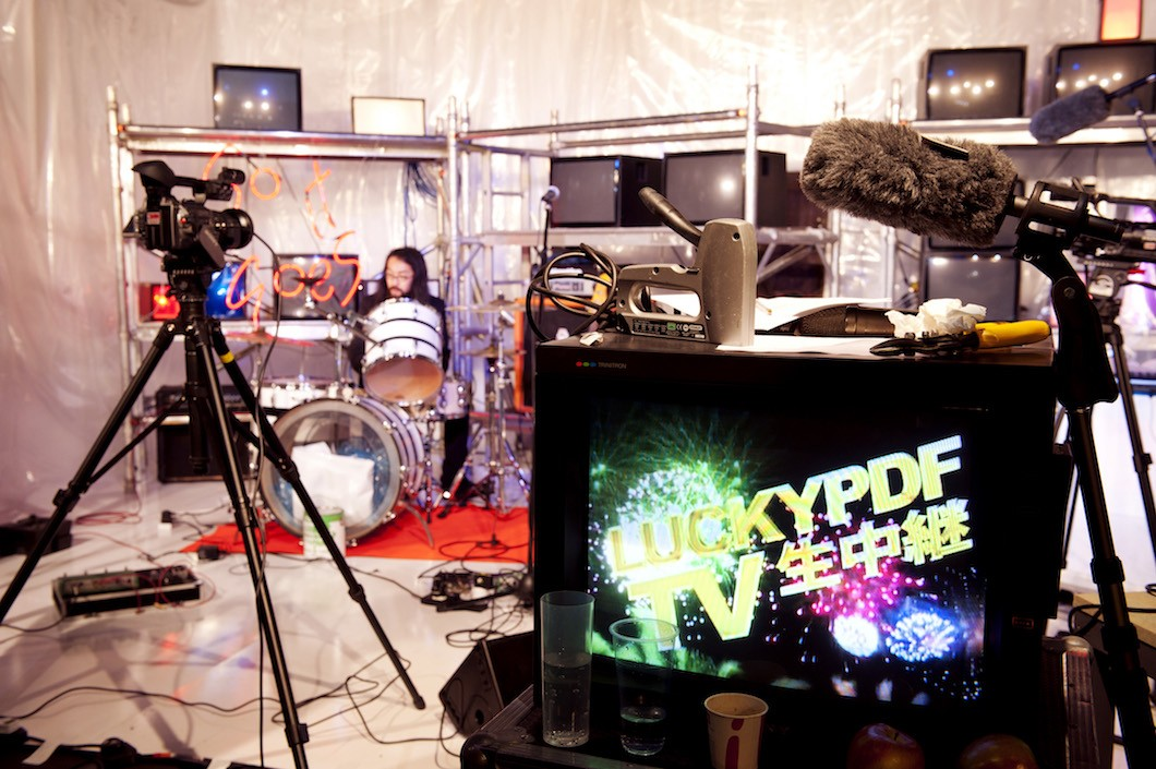 LuckyPDF TV, 2011. Production Image, Frize Art Fair, London. Photo