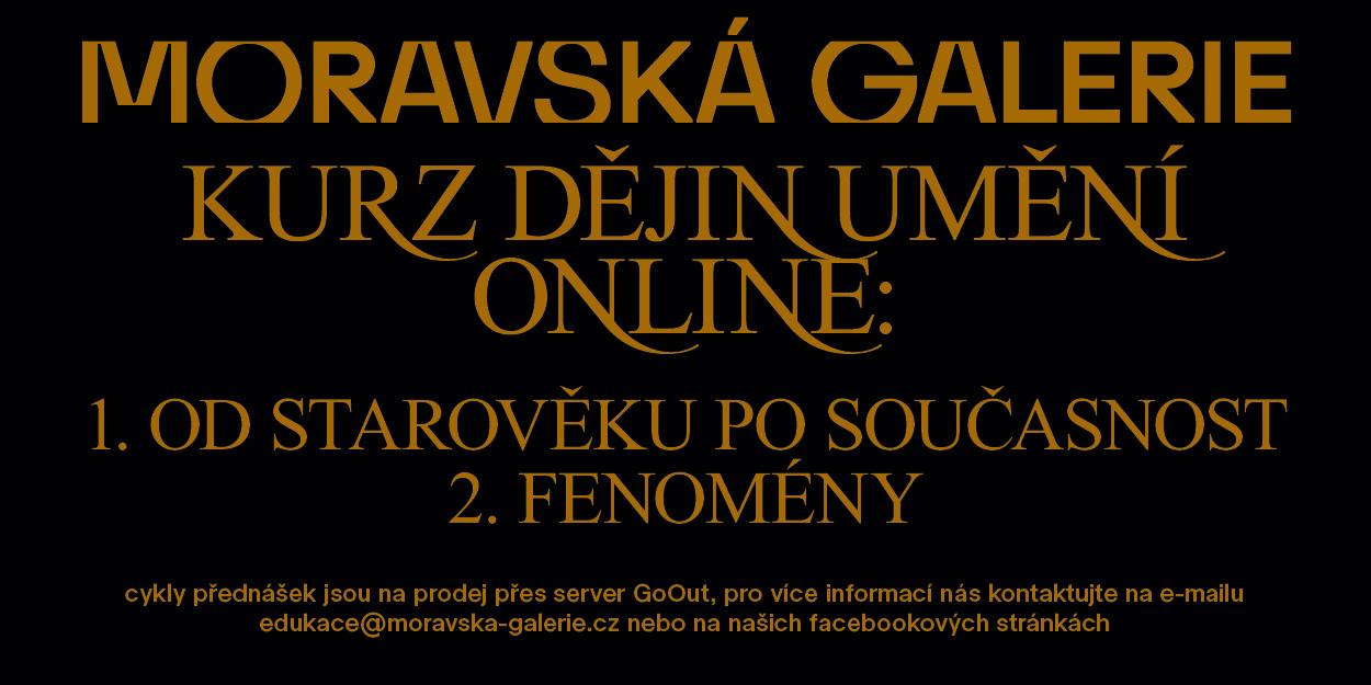 Moravska galerie Kurz dejin umeni